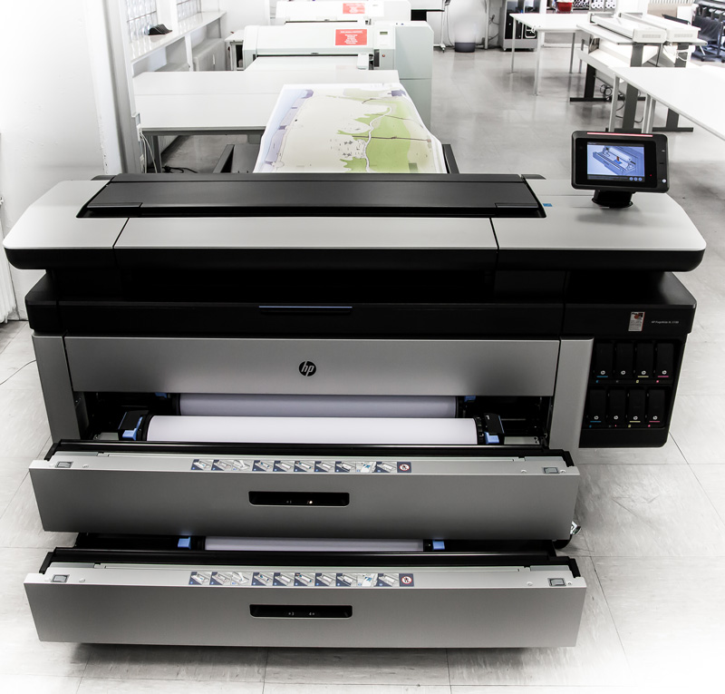 Der Grossformatdrucker HP PAGE WIDE XL 5100 ist schnell und effizient