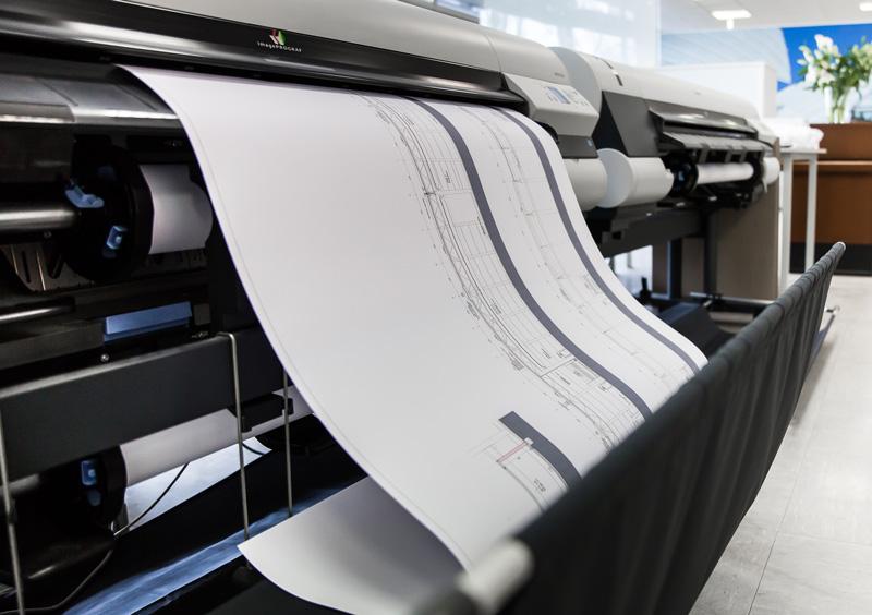 Moderne Plotter und Drucker sorgen für die hochwertige und effektive Auftragsausführung